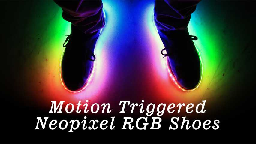 Motion triggered NeoPixel RGB Shoes