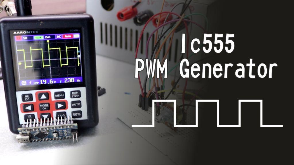 PWM Generator using IC555