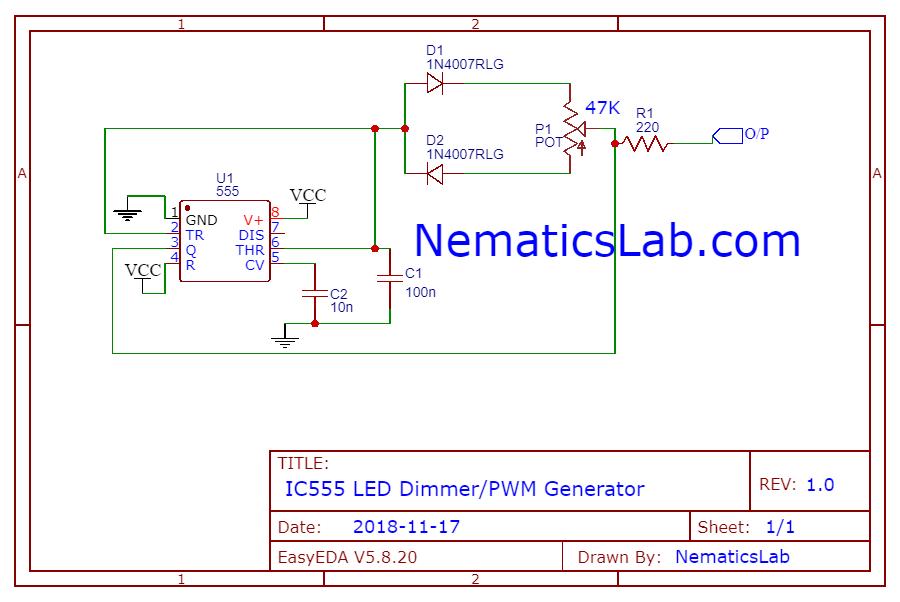 Schematic IC555