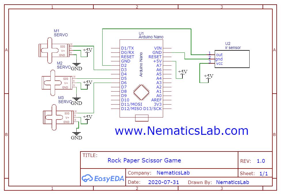Schematic_Rock paper Scissor Game