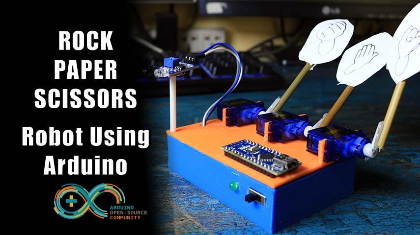 How to make Robot to Play ROCK PAPER SCISSOR using Arduino